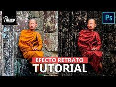 Edición de retrato en photoshop | Efectos de fotografia - YouTube