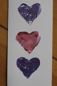 Potato Print Hearts- perfect for cards, bunting and decorations!