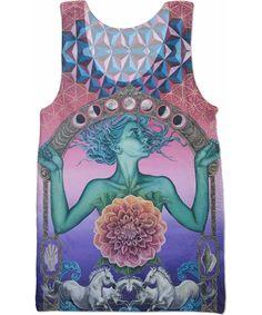 Women//Men Hypnosis Tank Top trippy vibrant psychedelic 3d Print Vest Tops