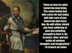 St Francis de Sales on anxiety www.religiousbookshelf.org
