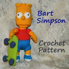 Crochet Pattern. Bart Simpson by InspiredCrochetToys on Etsy, $8.20