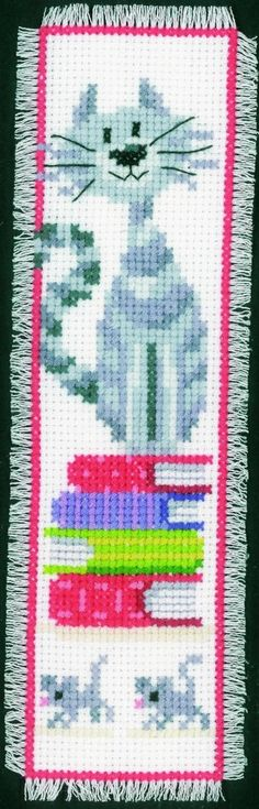 Vervaco Counted Cross Stitch Kit Bookmark Cats 2 | Needlework | Kits | Minerva Crafts. {}
