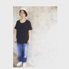 leap佐野  マスターピースの2DEYLIVEの少し緩めTシャツでカジュアルに合わせました! #porter #masterpiece #2DEYLIVE#古着#無印#おしゃれ#buddyhair_fashionnews#美容師#アシスタント#コーデ