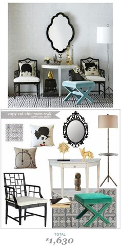 #CopyCatChicRooRedo by #LindseyBoyer | A Happy Chic #Entryway by #JonathanAdler recreated for only $1630