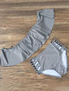Awesome Men's Summer Style $13.05 Off The Shoulder Flounced Bikini... Check more at http://24myshop.tk/my-desires/mens-summer-style-13-05-off-the-shoulder-flounced-bikini/