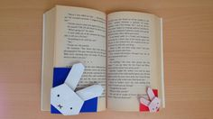 折り紙 ミッフィー「うさこちゃん」 しおり 簡単な折り方(niceno1)Origami Miffy bookmark