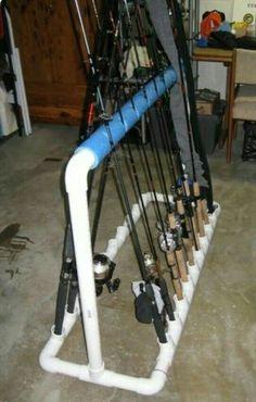DIY PVC Fishing Rod holder