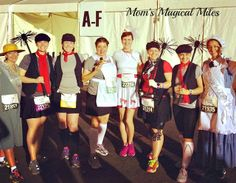 Mom's Magical Miles: Disney's Glass Slipper Challenge - The Enchanted 10K The Poppins Posse!  Chimney sweep costume, Mary Poppins costume, Mrs. Banks costume, Sister Suffragette costume