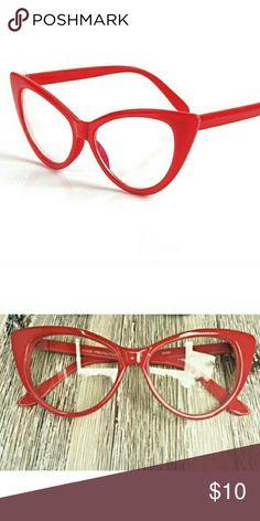 Women Fashion Glasses Brand New Women Red Cat Eye Frame Fashion Glasses Clear Lens Accessories Glasses