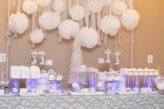 So... it's been a while since my last post. The last couple of months have been very busy, but in the next few weeks, I'll be posting some of the cakes and dessert tables I've done recently. I'm starting off with this winter wonderland dessert table I did for a wedding a few weekends ago. Lots of…
