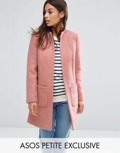 ASOS PETITE - Cappotto grazioso in misto lana