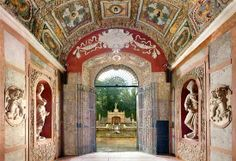 Neptune grotto Helbrunn Palace Austria, lots of grottoes, nirvana for grotto lovers