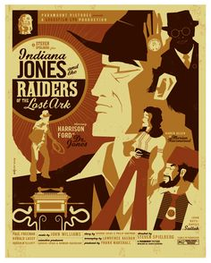 Indiana Jones   HEAPS Art Deco Movie Posters