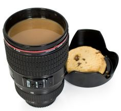 #Camera lens #coffee cup. this would be a cool gift