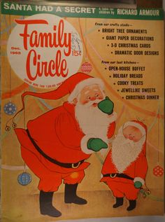 https://flic.kr/p/vJ7FLN | Family Circle Dec 1965 | $6.00 each plus Shipping.