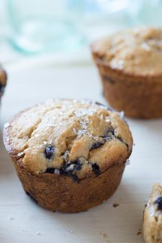 Sprouted Wheat Blueberry Muffins Recipe via KAF Spelt Recipes, Flour Recipes, Muffin Recipes, Bread Recipes, Sprouted Bread Recipe, Sprouted Grain Bread, Grain Foods, Blue Berry Muffins, Sprouts