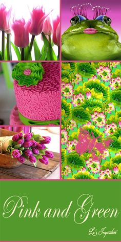 """Good evening Ladies. Thank you for all the wonderful blue and white pins today. I'm in a pink mood tonight so let's pin this color board of """" HOT PINK AND GREEN """" Thanks again and Happy Pinning. ❤"""
