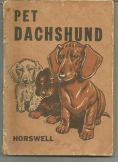 Vintage Dachshund, Dachshund Love, Dog Books, Animal Books, Lap Dogs, Dogs And Puppies, Daschund, Cute Little Animals, Reading Material