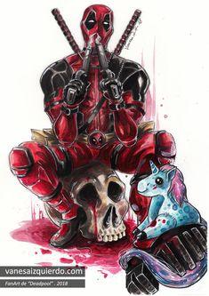 fanart——> i know it's not really an anime but this was so Deadpool Tattoo, Deadpool Art, Deadpool Funny, Deadpool Kawaii, Marvel Art, Marvel Heroes, Marvel Comics, Deadpool Wallpaper, Marvel Wallpaper
