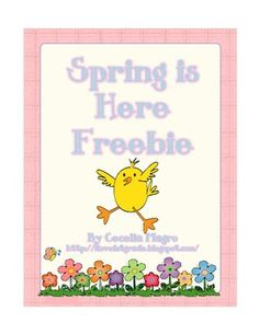 Here is a free spring writing craft.  Enjoy...