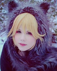 Love this one  #snow #snowy #cold #Frozen #cos #cosplay #cosplayer #wolf #makeup #howtohashtag #hatehashtags #cosplaymakeup #wolfcostume #wolfcosplay #random #kawaii #可愛い