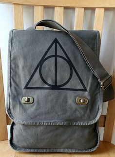 Harry Potter Deathly Hallows Canvas Field Bag by catbirdcreatures