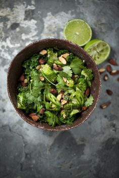 Warm Broccoli Salad With Kale, Lime + Roasted Tamari Almonds : The Healthy Chef – Teresa Cutter