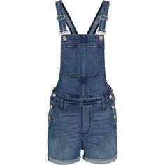 Madewell Denim overalls ($165) ❤ liked on Polyvore featuring jumpsuits, blue, blue jumpsuit, blue bib overalls, madewell overalls, bib overalls and madewell