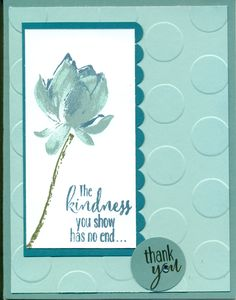 Lotus Blossom Thank You Scrapbooking, Scrapbook Cards, Making Greeting Cards, Greeting Cards Handmade, Flower Stamp, Flower Cards, Card Making Inspiration, Making Ideas, Minis