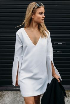dolce tunic dress - white