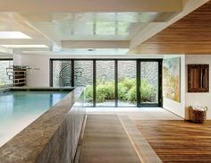 Click through our roundup of indoor pools—culled from the archives—to cure your winter blues