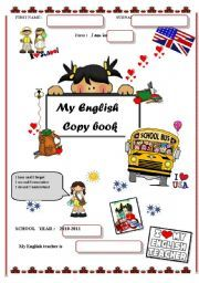 English worksheet: Notebook covers - Back to school ...