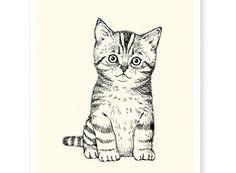 chaton mignon affiche idée cadeau noel chat