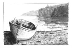 Discover how to render realistic seascape textures in this graphite drawing class by Phil Davies. #LandscapeDrawing