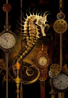 Seahorse Temporus  suspended in time