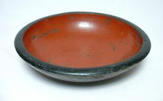 Antique Japanese Mingei wooden bowl, early 20th century