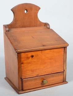 Wall Box, with compartmented dovetailed drawer an