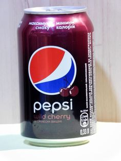 New Empty Can Steel 330 ml From Ukraine PEPSI Wild Cherry. Open from bottom! #Pepsi