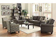 Grey Sofa & Loveseat
