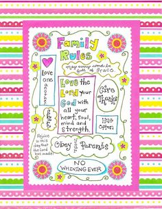 Happy Home Family Rules – FREE Printable!
