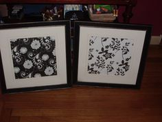 Using Scrapbook paper to make a low cost high impact decorating focal point