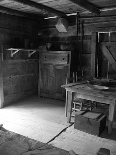 Neat old cabin interior