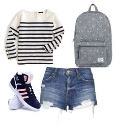 """School"" by mkcorniel on Polyvore featuring Topshop, J.Crew, adidas and Herschel Supply Co."