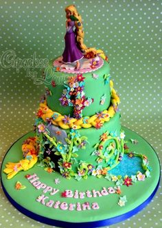 Tangled Birthday Cake Designs