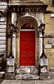 Red Door in Cork, County Cork, Ireland Grand Entrance, Entrance Doors, Doorway, Painted Interior Doors, Painted Doors, Cool Doors, Unique Doors, Beyond The Horizon, Door Picture