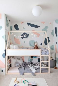 Hawthorne by Mosaic Homes in Collaboration with Laura Melling - Kids Room, Bedroom Room Type, Bed, and Bunks REIMAGINED TODDLERS BED: Reimagine the KURA bed by adding a roofline and white washing the bedframe.