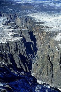 Black Canyon of the Gunnison, Gunnison County, Colorado, CO United States. First time I went here, I was a little freaked out...
