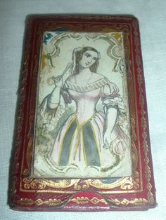 19th Century Embossed Leather Needle Case