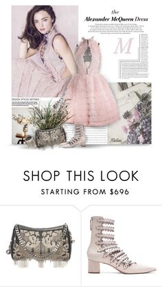 """The Alexander McQueen Dress"" by thewondersoffashion ❤ liked on Polyvore featuring Kerr®, Alexander McQueen, Zimmermann and VANINA"