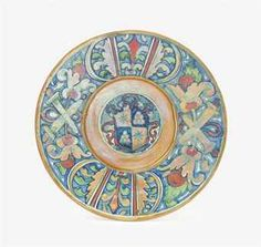 A GUBBIO DATED LUSTRED DISH  1537, INSCRIBED MO GO FOR WORKSHOP OF MAESTRO GIORGIO ANDREOLI